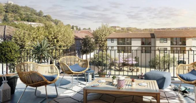 Achat / Vente appartement neuf Rognes en plein centre du village (13840) - Réf. 5160
