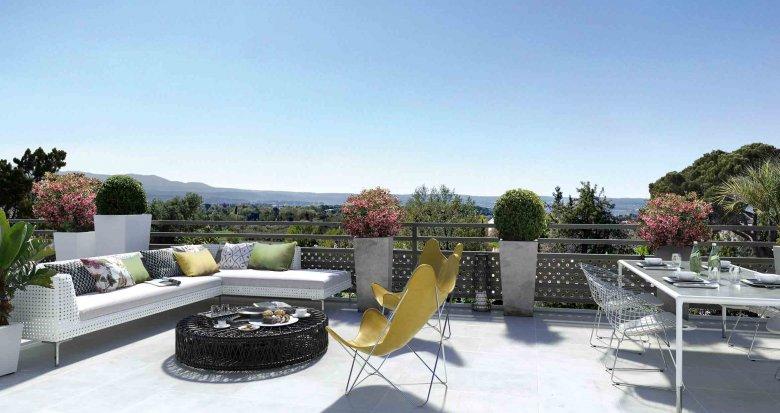 Achat / Vente appartement neuf Aix-en-Provence au milieu des coteaux (13090) - Réf. 247