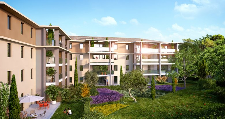 Achat / Vente appartement neuf Aix-en-Provence Les Platanes (13090) - Réf. 1049