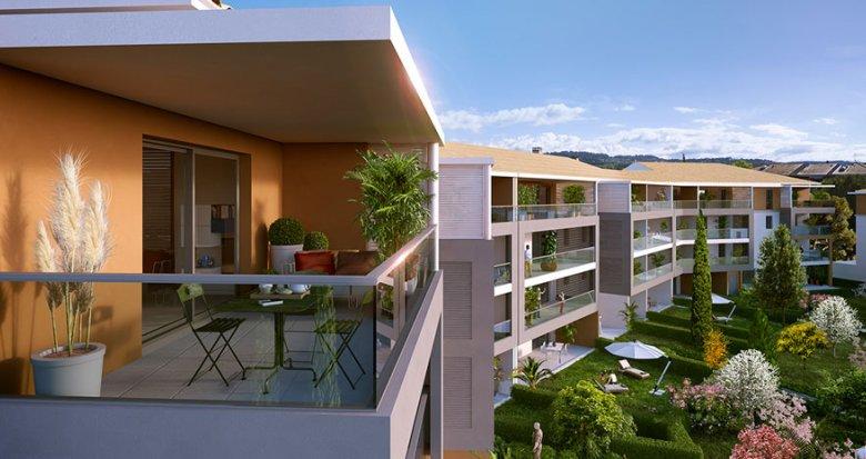 Achat / Vente appartement neuf Aix-en-Provence proche du Centre commercial de Jas de Bouffan (13090) - Réf. 1358