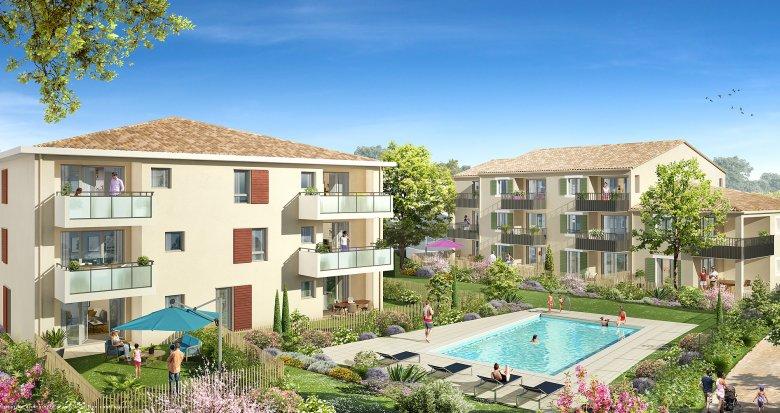 Achat / Vente appartement neuf Le Puy-Sainte-Réparade proche de  Pertuis et Aix-en-Provence (13610) - Réf. 2507