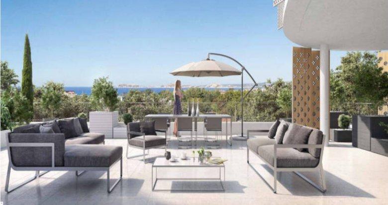 Achat / Vente appartement neuf Marseille 08 proche secteur Saint-Anne (13008) - Réf. 2761
