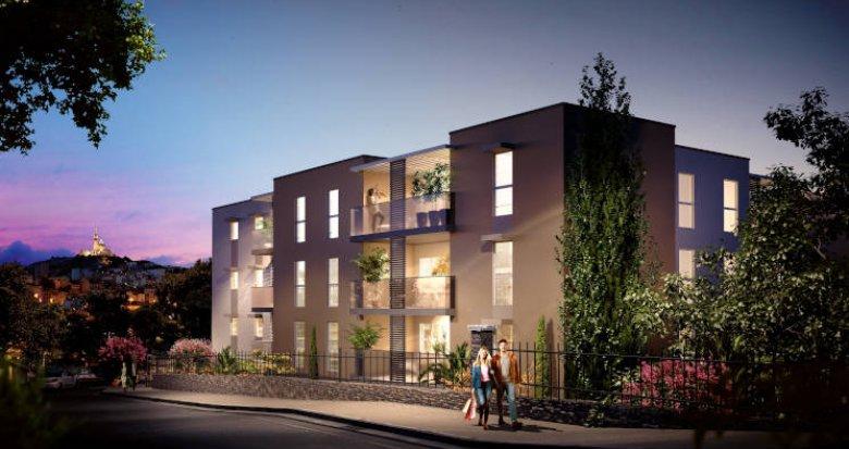 Achat / Vente appartement neuf Marseille 10 sur les hauteurs de Saint Loup (13010) - Réf. 6041