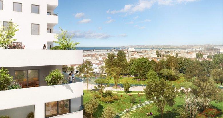 Achat / Vente appartement neuf Marseille proche futur parc de Bougainville (13003) - Réf. 1642